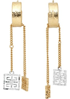 Givenchy Silver & Gold 4G Charm Earrings