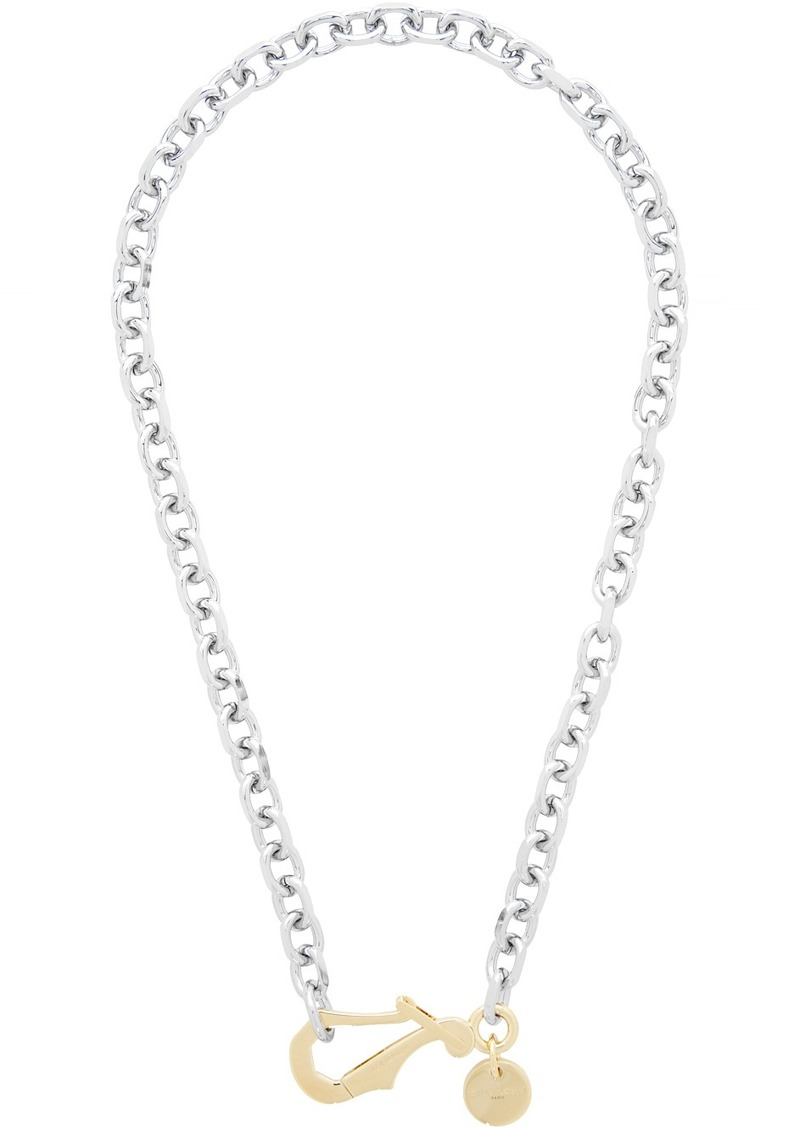 Givenchy Silver Big Hook Chain Necklace