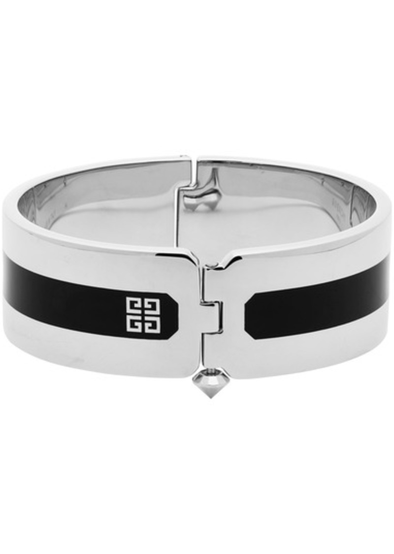 Givenchy Silver Simple Cuff Bracelet