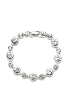 Givenchy Silver-tone and Light Sapphire Crystal Flex Bracelet