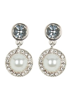 Givenchy Simulated Pearl Pave Drop Earrings