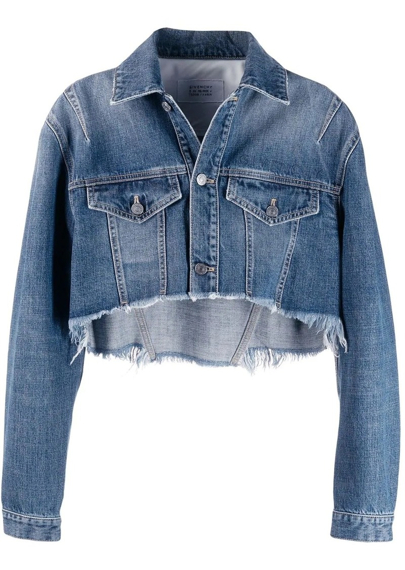Givenchy slashed crop denim jacket