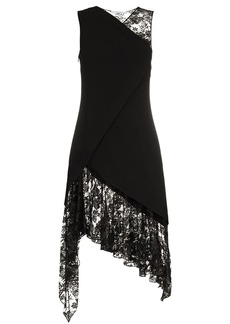 Givenchy sleeveless lace wool dress