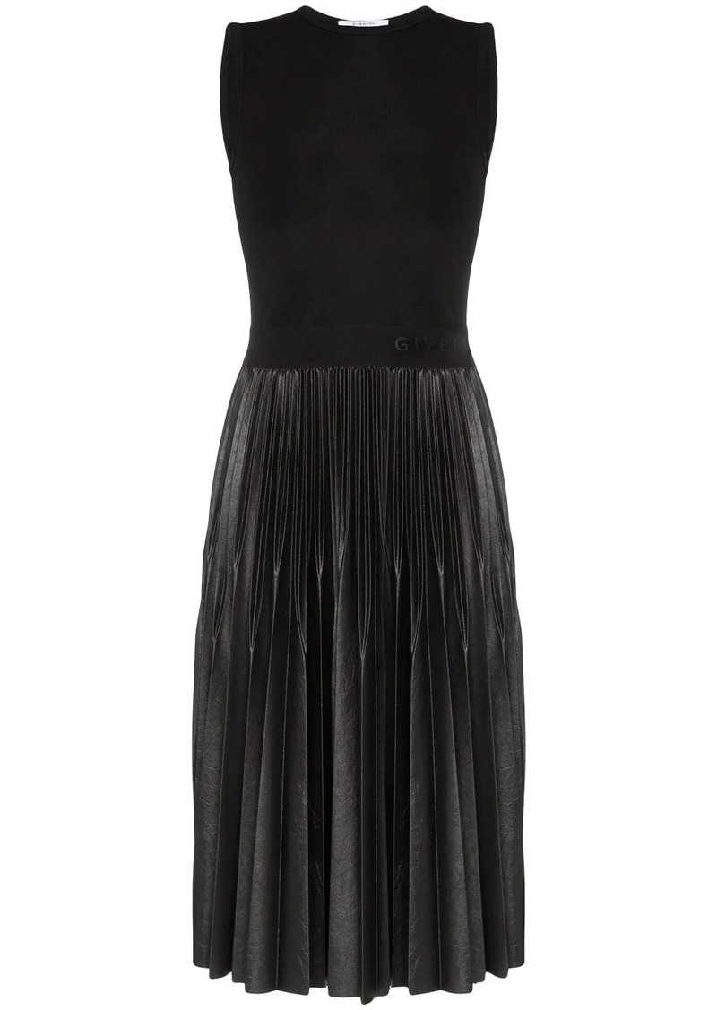 Givenchy sleeveless pleated mid-length dress