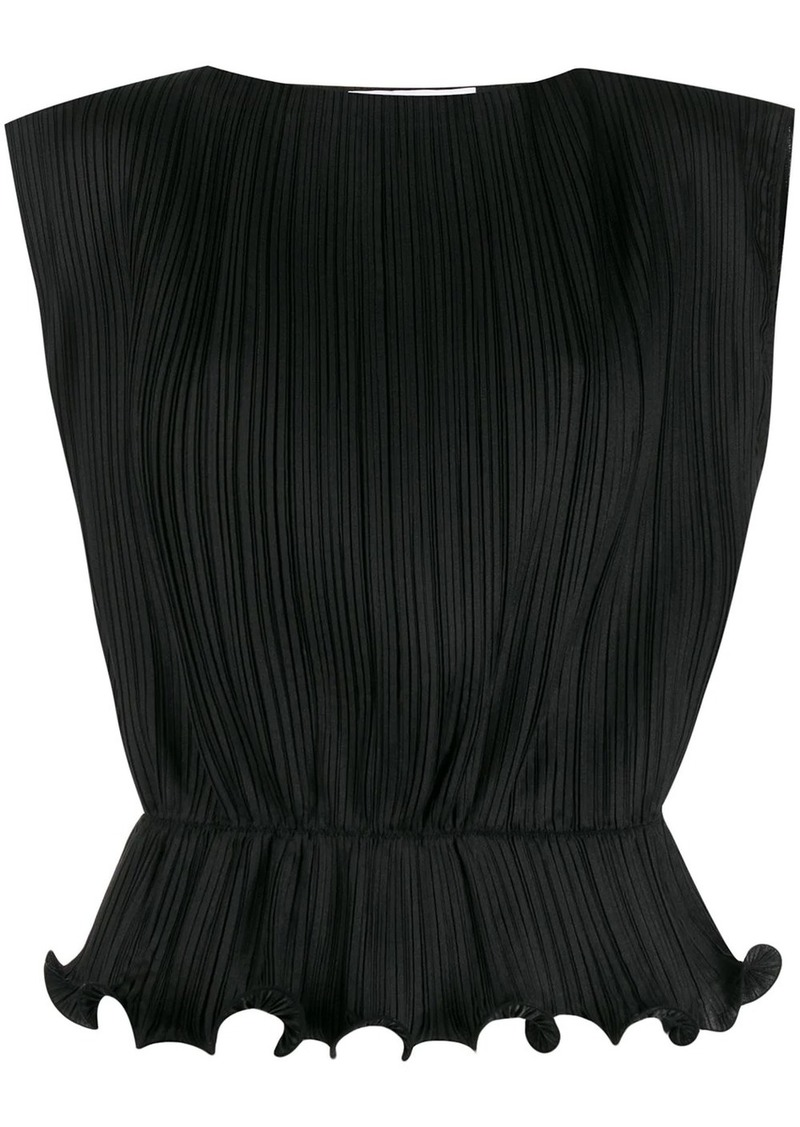Givenchy sleeveless ruffled hem blouse