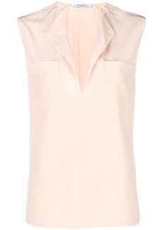 Givenchy sleeveless split neck blouse