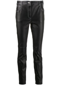 Givenchy slim fit leather trousers