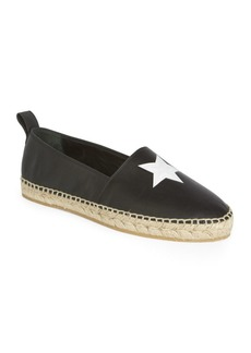 Givenchy Star Lamb Leather Espadrilles