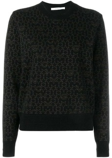 Givenchy star logo print sweater