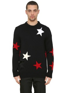 Givenchy Stars Intarsia Wool Knit Sweater