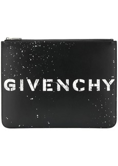 Givenchy Stencil large zipped pouch