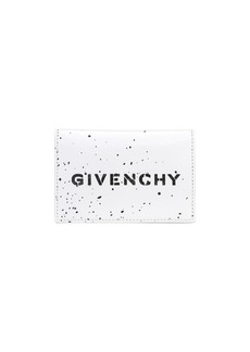 Givenchy Stencil Logo Leather Billfold Wallet