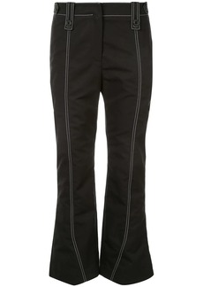Givenchy stitch detail kick flared trousers