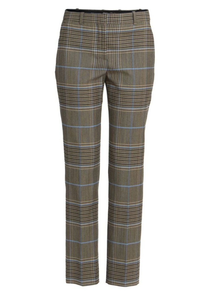 Givenchy Straight-Leg Check Trousers