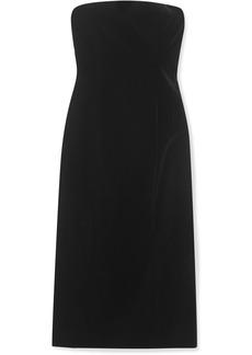 Givenchy Strapless Velvet Midi Dress