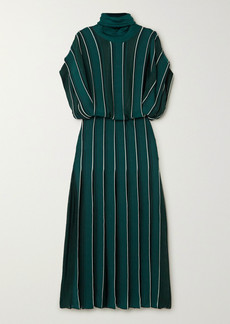 Givenchy Striped Knitted Turtleneck Midi Dress