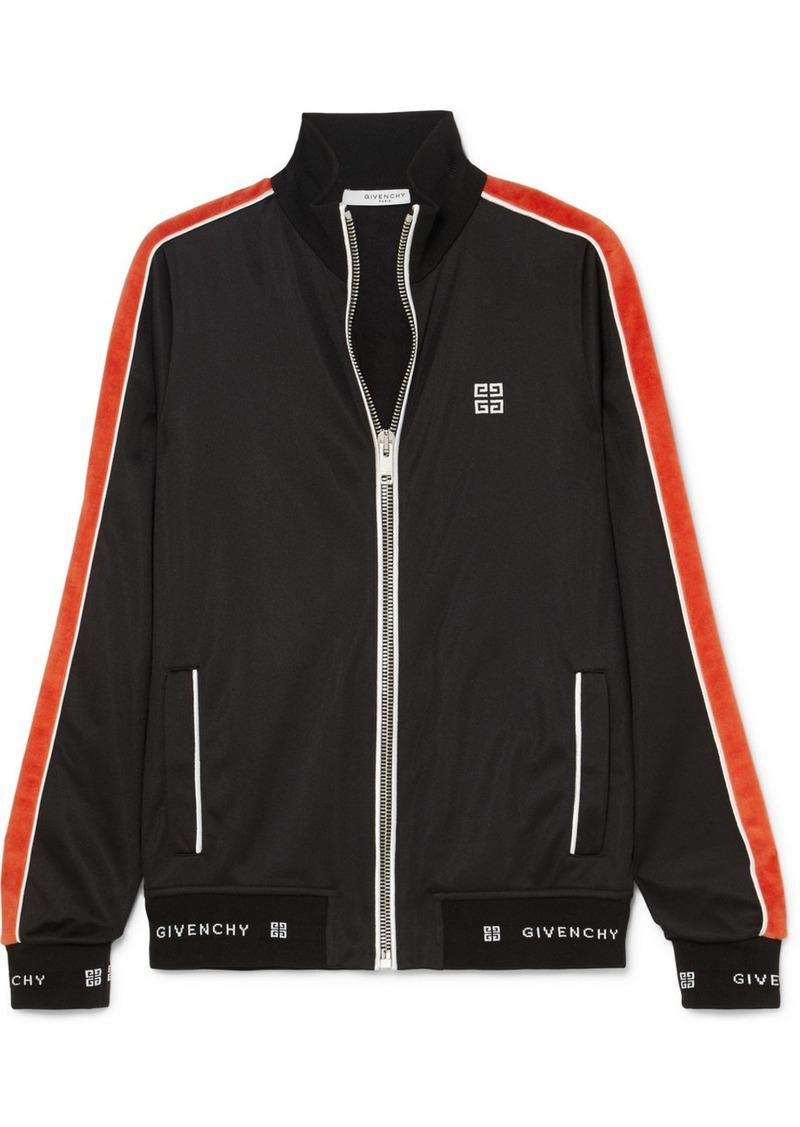 Givenchy Striped neoprene jacket