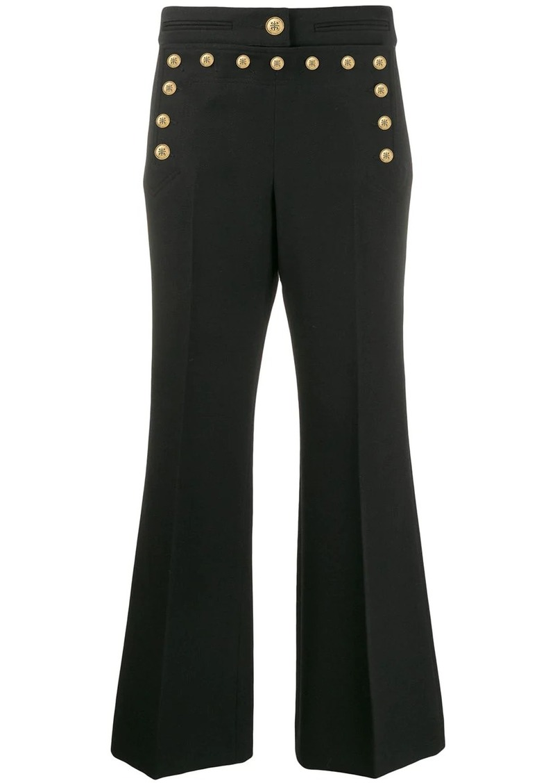 Givenchy studded flare trousers