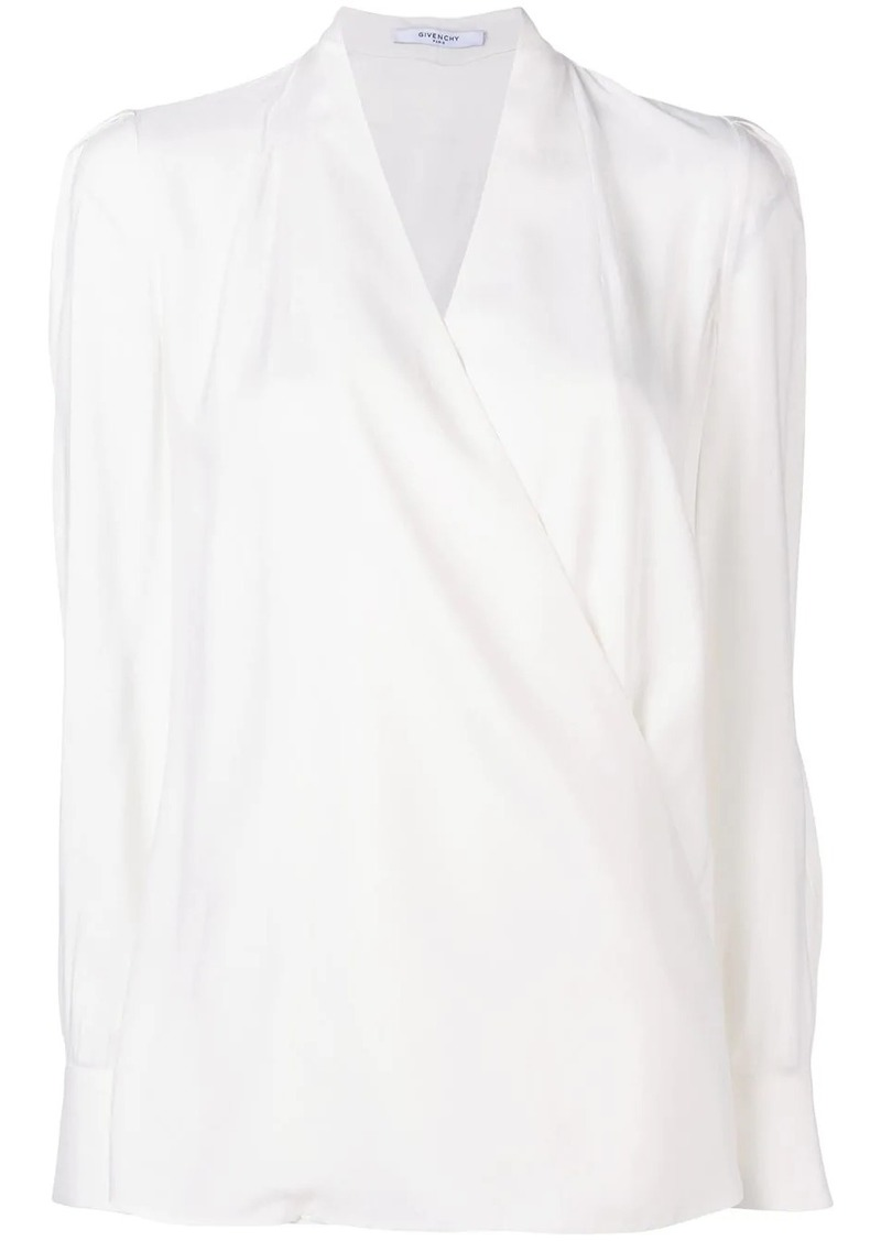 Givenchy surplice blouse