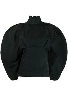 Givenchy taffeta oversized sleeve blouse