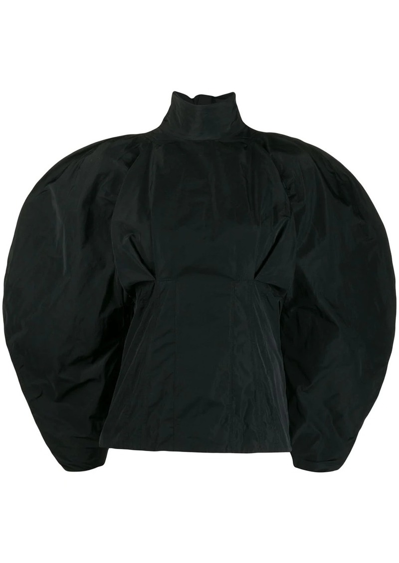 Givenchy taffeta oversized sleeve blouse