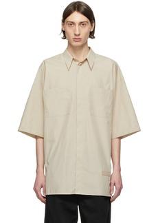 Givenchy Tan Oversize Patch Shirt