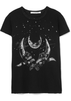 Givenchy Taurus Printed Distressed Cotton-jersey T-shirt