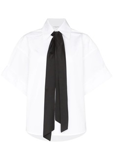 Givenchy tie detail short-sleeve shirt
