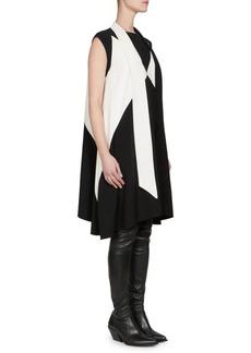 Givenchy Tie-Neck Trapeze Dress