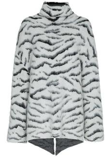 Givenchy tiger print mohair jumper