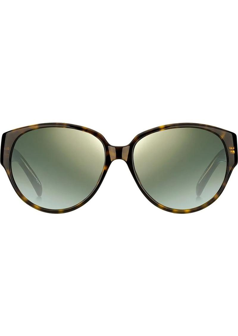 Givenchy tortoiseshell slim round frame sunglasses