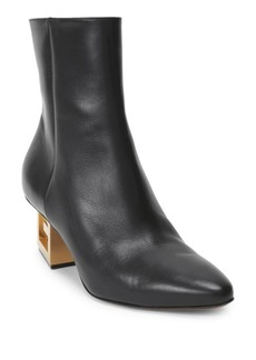 Givenchy Triangle Logo Heel Ankle Booties
