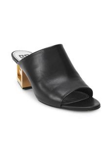 Givenchy Triangle Logo Heel Mules