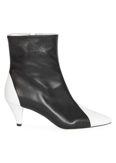Givenchy Two-Tone Leather Ankle Boots