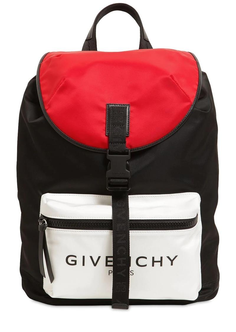Givenchy Ultra Light Nylon Backpack W/ Logo
