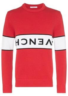 Givenchy upside-down logo intarsia jumper