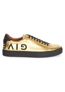 Givenchy Urban Street Metallic Leather Sneakers
