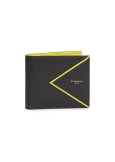 Givenchy V Lines Leather Bi-Fold Wallet