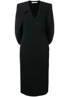 Givenchy v-neck cape dress