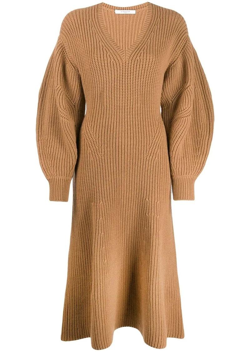Givenchy v-neck jumper dress