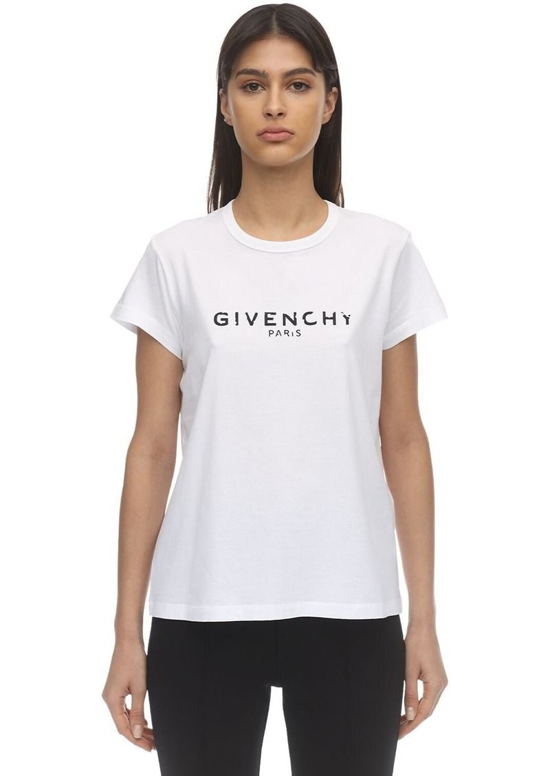 Givenchy Vintage Logo Printed Jersey T-shirt