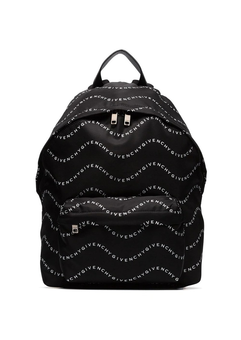 Givenchy wave logo-printed backpack