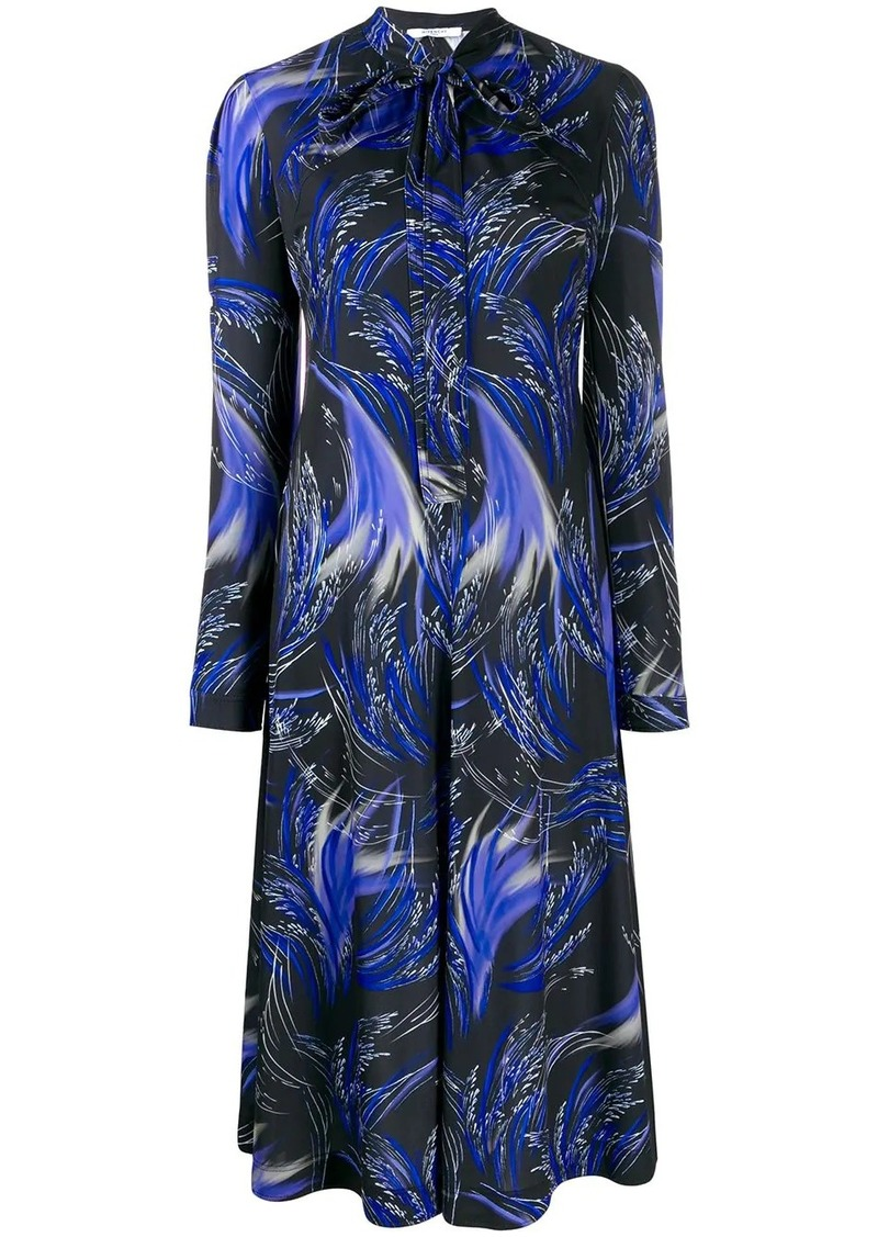 Givenchy wave print midi shirt dress
