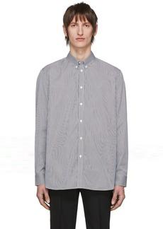 Givenchy White & Black Logo Patch Stripe Shirt