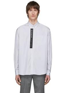 Givenchy White & Black Striped Logo Shirt