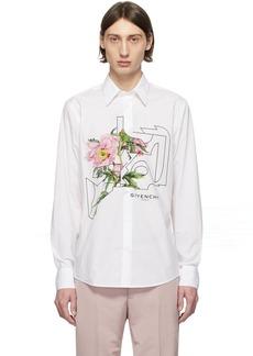 Givenchy White Printed Shirt