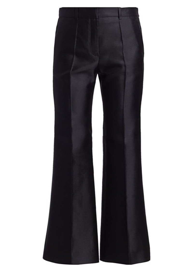 Givenchy Wide Cropped Wool & Silk Trousers