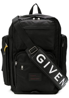 Givenchy wide functional backpack