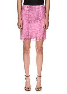 Women's Givenchy 4G Logo Guipure Lace Miniskirt