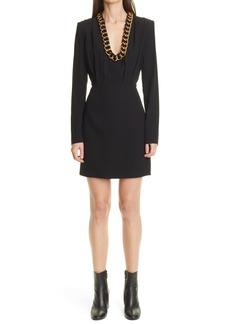 Women's Givenchy Chain Collar Long Sleeve Minidress
